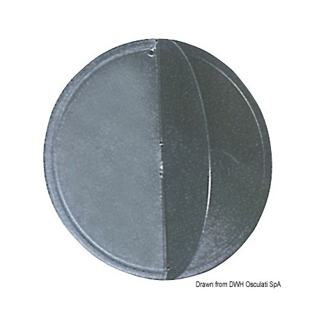 Ballon de mouillage noir, diamètre 300 mm