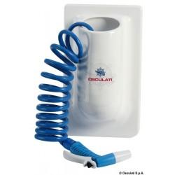 Conteneur vertical avec tuyau eau en spirale