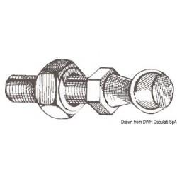 Boule en acier pour montage à cliquet ressort à gaz