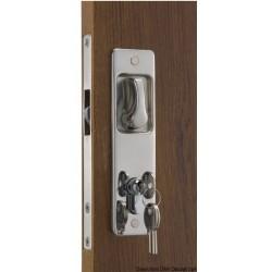Pour portes coulissantes avec poignée encastrée. Clé Yale externe, blocage interne