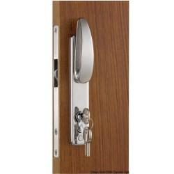 Pour portes coulissantes, avec poignée externe, clé Yale externe, blocage interne
