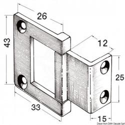 Charnières excentriques pour portes à col haut