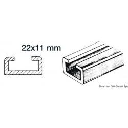 Rails en aluminium et coulisses en nylon