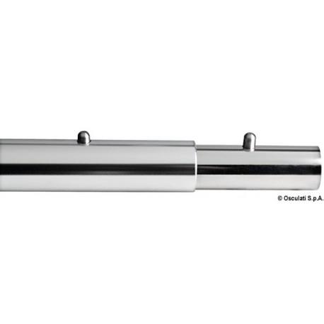 Raccords pour tuyaux rectilignes avec deux boutons d'arrêt à ressort