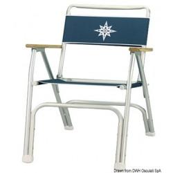 Chaise pliante en aluminium anodisé