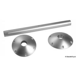 Pied de table en aluminium avec base externe