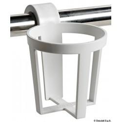 Porte-verres universels en plastique à clipser sur balcons ou garde-corps.