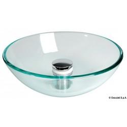 Lavabo semi-sphérique en verre transparent