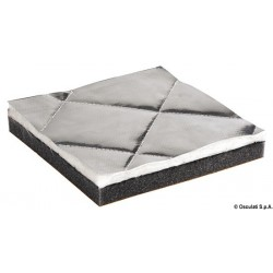 Plaques antibruit phono-isolantes, phono-absorbantes et thermorésistantes, matelassé en fibre de verre