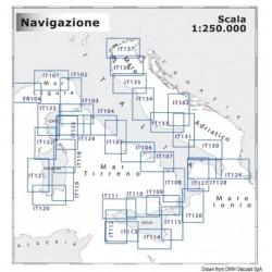 Carte Navimap FR104-IT101 - Cartographie NAVIMAP 1:250.000 pour navigation à moyenne portée