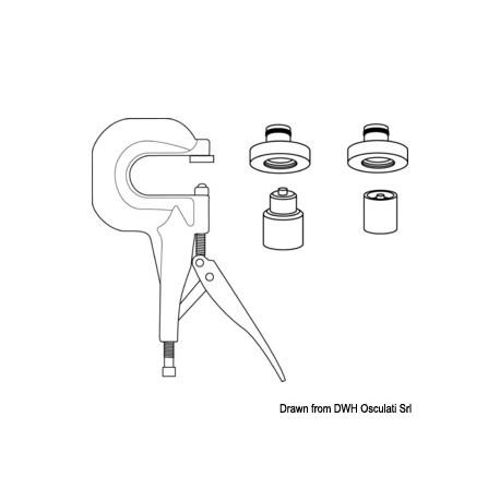 Presse industrielle pour montage boutons pression Q-SNAP