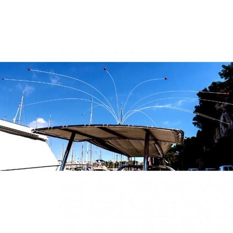 Epouvantail universel pour voilier et bateau à moteur avec housse