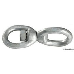 Émerillon en acier galvanisé pour chaîne d´ancre et bouée