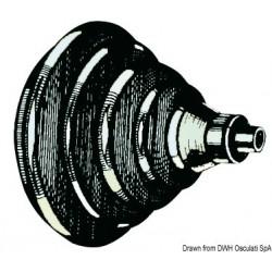 Bague passe-câbles en ABS avec soufflet en caoutchouc