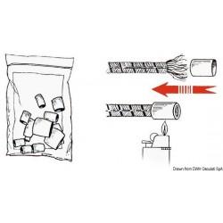 Embouts thermo-rétractables en plastique blanc pour amarres