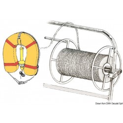 Enrouleur de cordages en inox poli