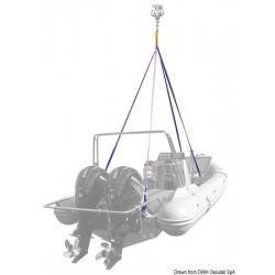 Système de levage à 4 bras pour embarcations ou bateaux pneumatiques