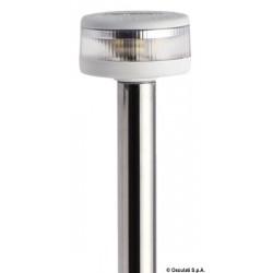 Hampe lumineuse avec feu Evoled 360° - Version extractible avec base en nylon / inox poli