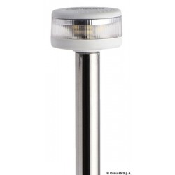 Hampe lumineuse avec feu Evoled 360° - Version extractible avec base inox fixation à paroi