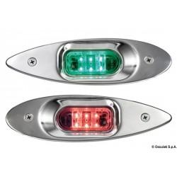 Feux de navigation Evoled Eye à LED à faible consommation en inox poli miroir pour fixation à encastrement à paroi