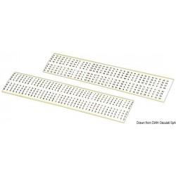 Lettres et chiffres autocollantes de 3mm noirs sur fond blanc