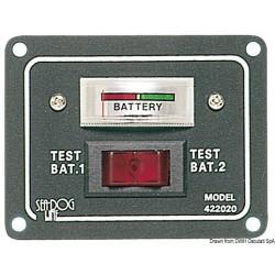 Panneau - test pour 2 batteries activable par interrupteur