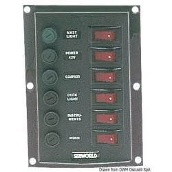 Tableau en nylon avec interrupteurs à bascule lumineux