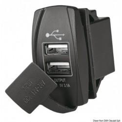 Prise de courant avec double USB