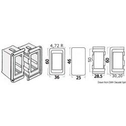 Cadre pour interrupteurs en plastique