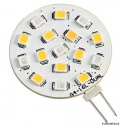 Ampoule LED SMD bicolore culot G4