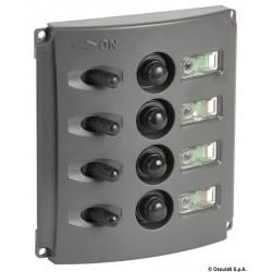 Tableaux électriques avec fusibles automatiques et double LED