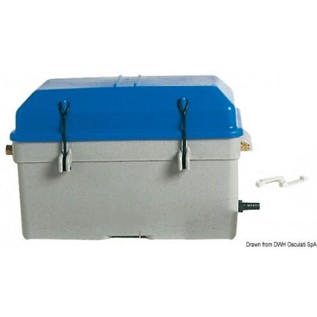 Boîte porte-batterie étanche avec ventilation