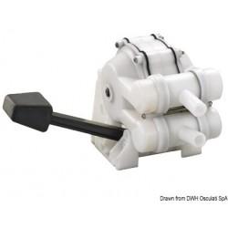 Pompe à pédale pour lavabo à double effet